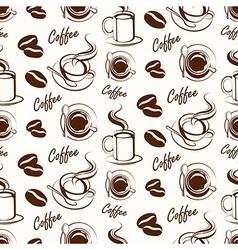 coffee seamless3 vector image