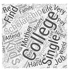 College mother scholarship single Word Cloud vector