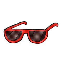 Comic cartoon spectacles vector