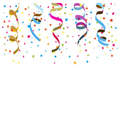 confetti ribbons vector image