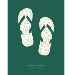Curly doodle shapes flip flops silhouettes vector