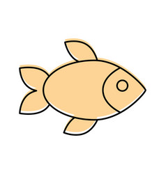 delicious fish isolated icon vector image