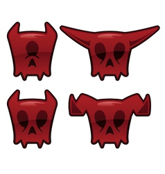 demon skull icons vector image
