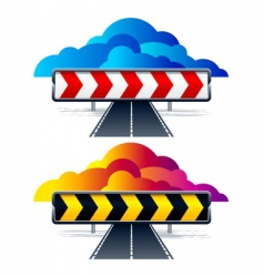 direction arrows vector image