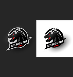 Dragon sport logo two options vector