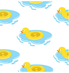 duck float ring seamless pattern vector image