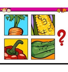 Educational puzzle task for children vector