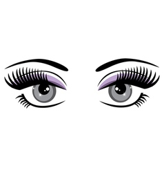 eyes blue vector image