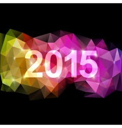 fantasy 2015 new year background vector image vector image