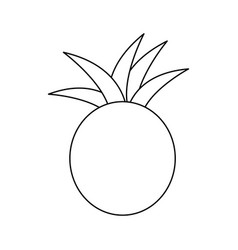 figure pineapple fruit icon stock vector image