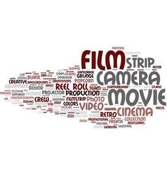 Film word cloud concept vector