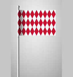 Flag of monaco alternate design version national vector