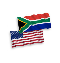 Flags republic south africa and america on a vector