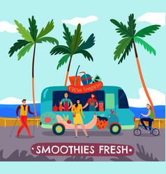 food trucks vector image