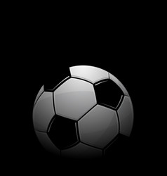 football black background vector image