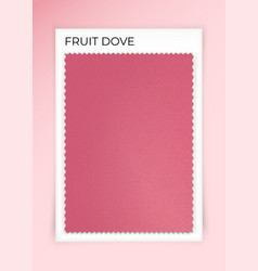 Fruit dove fabric sample vector