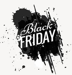 grunge black friday design vector image