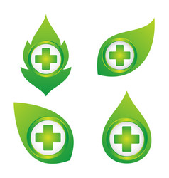 health cross leaf vector image