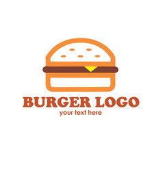 Hot burgers logo vector