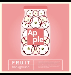 Infused water fruit recipe with apple vector image