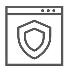 internet security line icon safety and network vector image