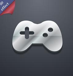 Joystick icon symbol 3D style Trendy modern design vector