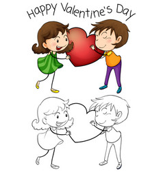 Lovely couple on valentine vector