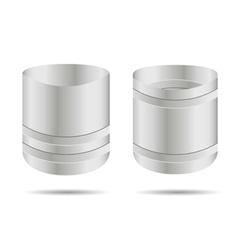 Metal barrel open vector
