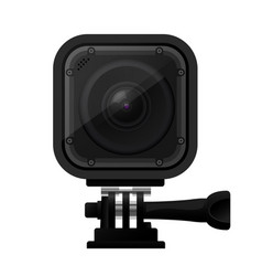 Modern compact action camera - extreme sport cam vector