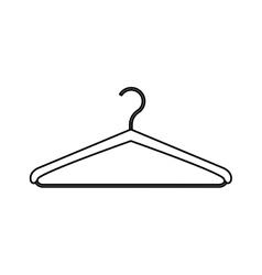 Monochrome contour with hook closet shirt vector