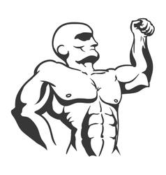 Muscle man icon Bodybuilder design vector