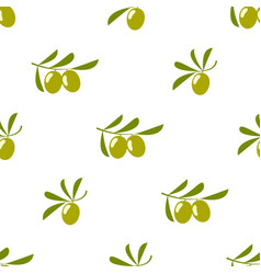 olives seamless pattern isolated on white vector image