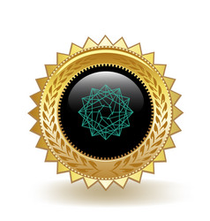 Power ledger cryptocurrency coin gold badge vector