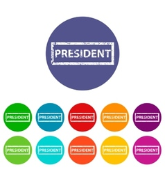 President flat icon vector image