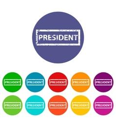 President flat icon vector