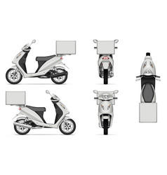 realistic delivery scooter vector image