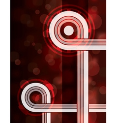 Red loop technology abstract background vector