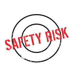 Safety risk rubber stamp vector