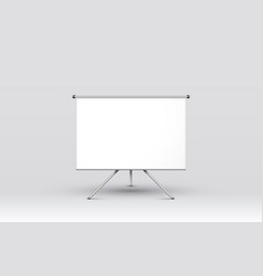 scene presentations board table white display vector image