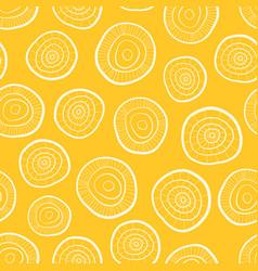 seamless pattern hand drawn circles vector image
