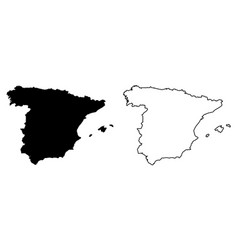 Simple only sharp corners map spain drawing vector