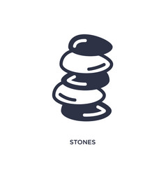 Stones icon on white background simple element vector