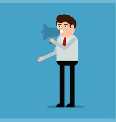 the man speaks in the loudspeaker vector image