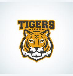 Tiger team abstract sign emblem or logo vector