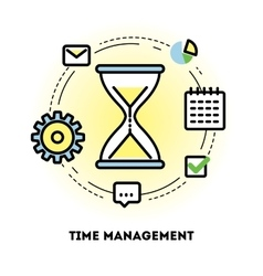 Time management and business planning graphic vector image