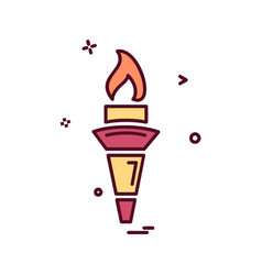 torch icon design vector image