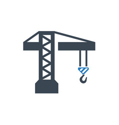 tower crane icon vector image