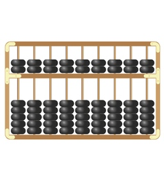 Traditional wooden abacus isolated on white vector