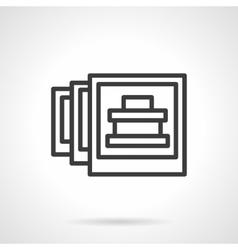 Travel photo black line design icon vector image