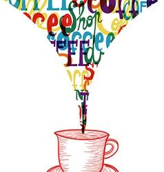 Trendy coffee social icon concept vector image